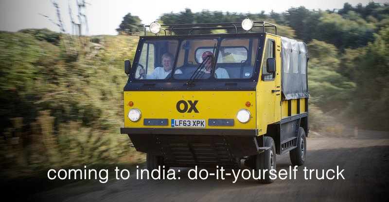 The OX is a pickup truck you can assemble at home; Brought to India by Shell!