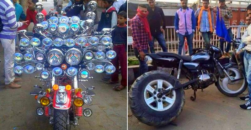 Most IDIOTIC motorcycle accessories seen on Indian roads