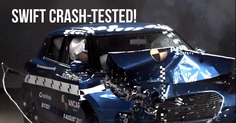 2018 Suzuki Swift crash test videos out!