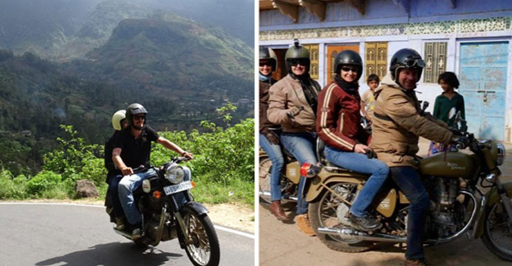 vintage rides motorcycle tour on royal enfield bikes