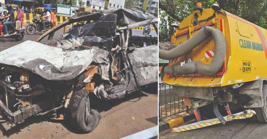 Speeding Tata Hexa crashes into BMC truck: This is the result