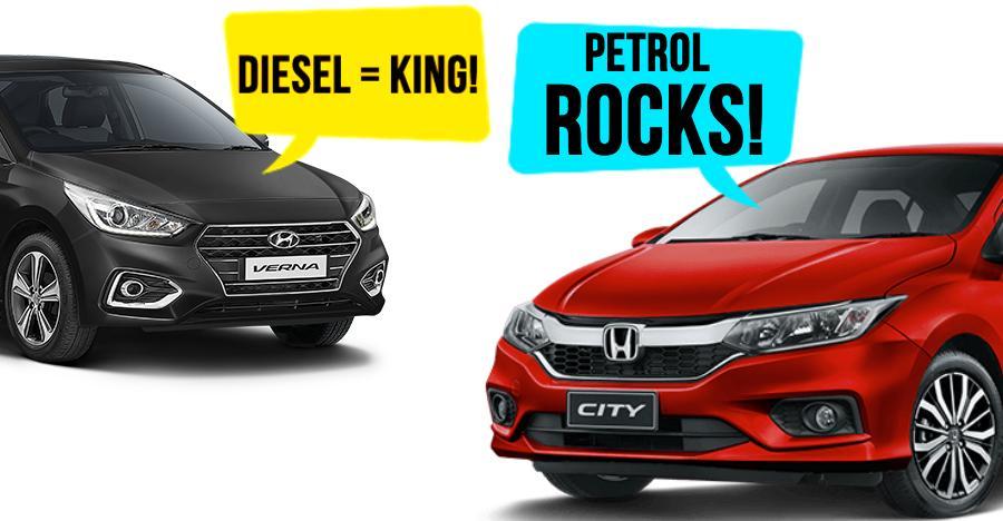 Honda City buyers prefer petrol, Hyundai Verna buyers prefer diesel: We explain why