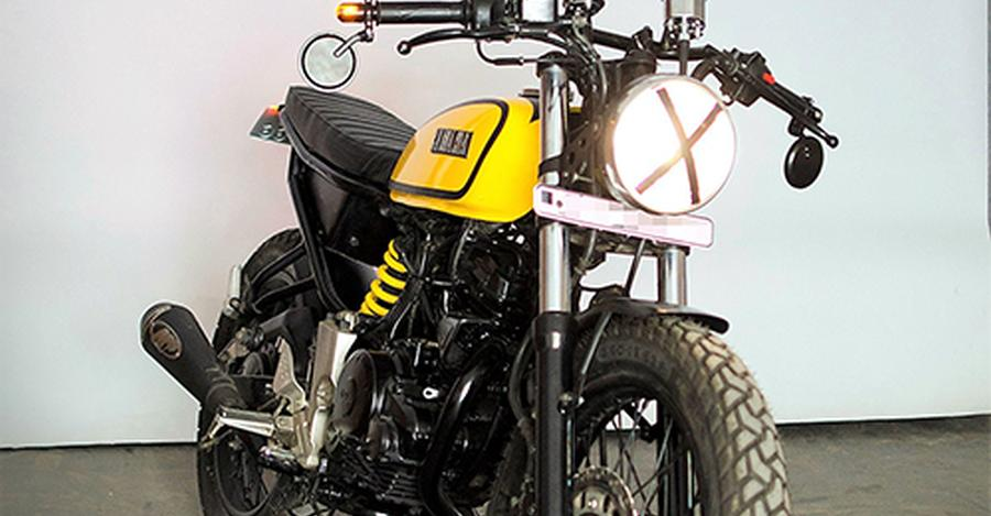Yamaha FZ16 modified into a retro cafe racer motorcycle is absolutely GORGEOUS