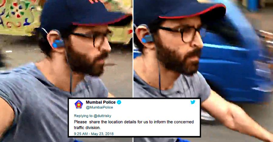 Hrithik Roshan rides bicycle helmet-less, while shooting own video; Gets trolled