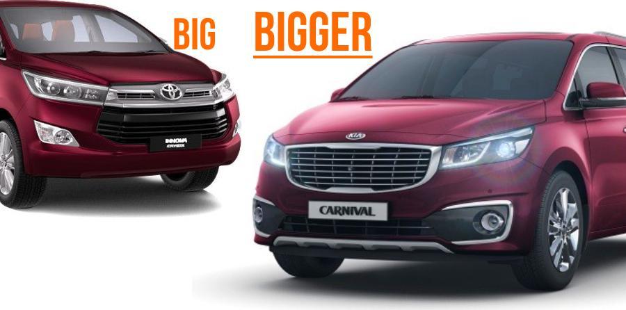 Kia Grand Carnival Mpv To Be Toyota Innova Crysta Rival Spied In India