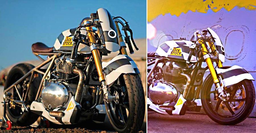 Royal Enfield Interceptor-based Lock Stock 650cc custom motorcycle: Now on video