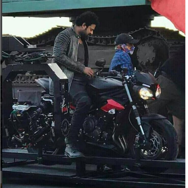 Whats Baahubali Actor Prabhas Doing On A Triumph Street Triple Rs