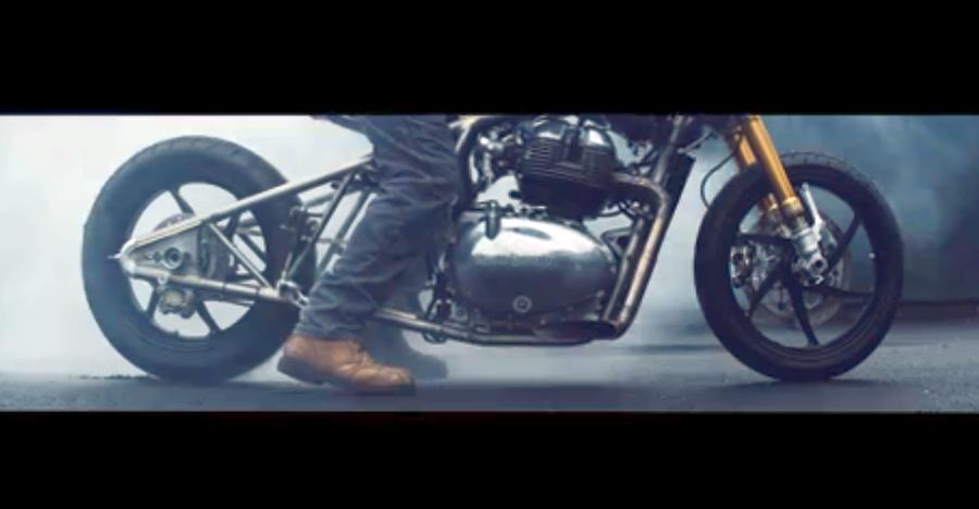Royal Enfield teases 650cc, parallel twin custom motorcycle based on Interceptor/Continental GT