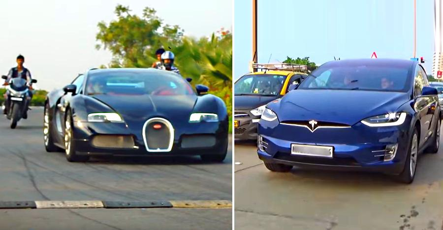 Super RARE cars in India caught on video: From Bugatti Veyron to Tesla Model X
