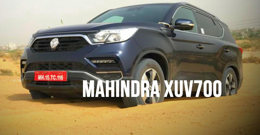 Upcoming Mahindra XUV700 caught testing in sand dunes