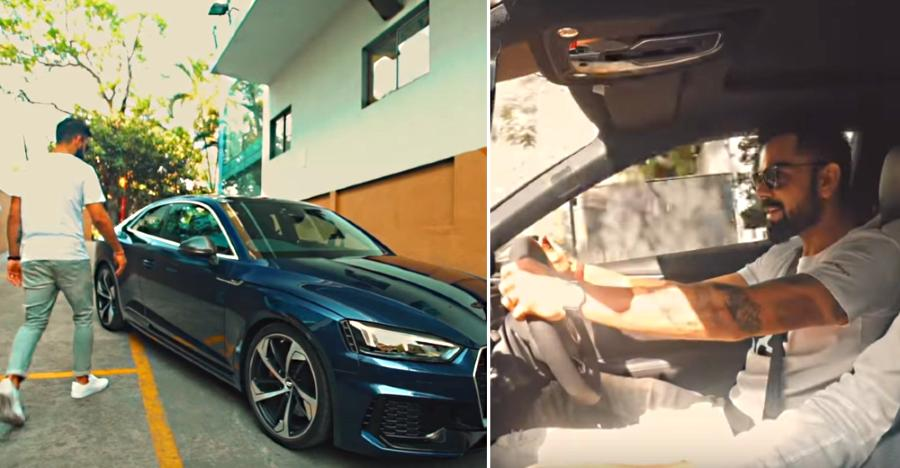 Watch Virat Kohli FLOOR IT in an Audi RS5 sports coupe [Video]