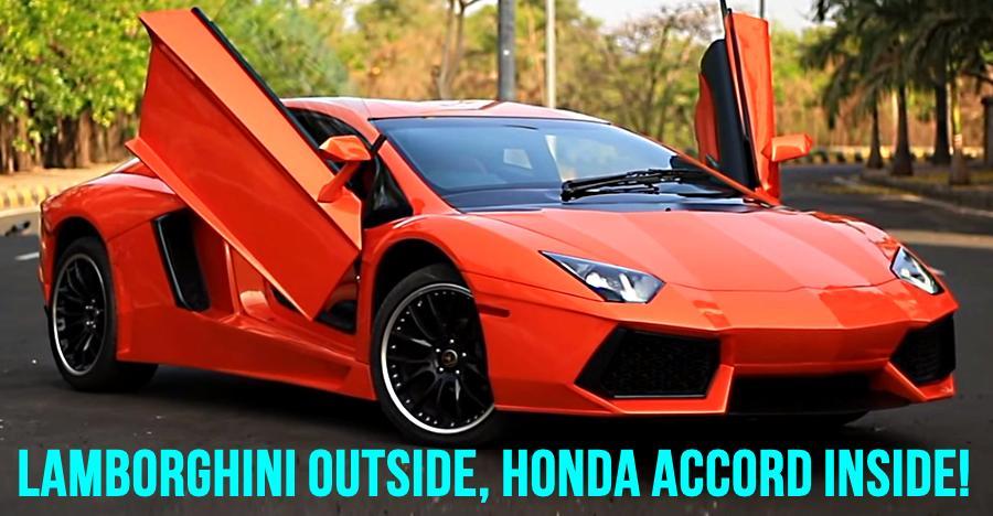 This drop-dead gorgeous Lamborghini Aventador is ACTUALLY a Honda Accord [Video]