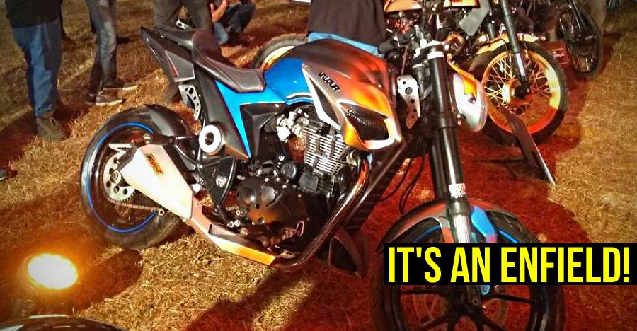 This sportsbike is ACTUALLY a modified Royal Enfield