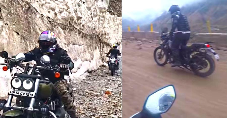 Royal Enfield Himalayan, KTM Duke 390 & 3 Harley Davidsons tackle India's most dangerous roads [Video]