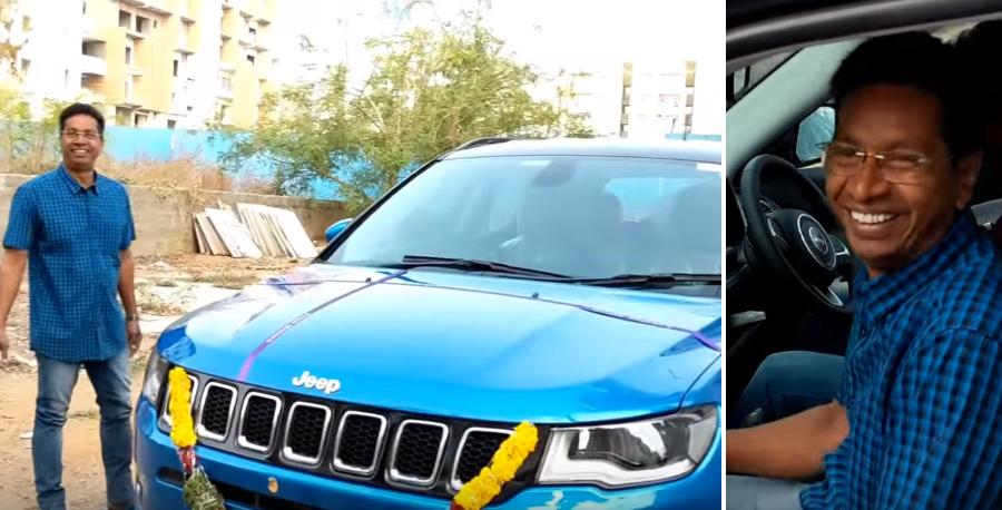 Surprise! Son gifts parents a Jeep Compass SUV; Happiness all around