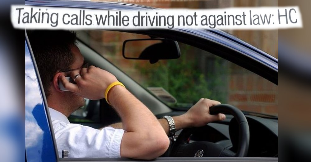 Talking on mobile while driving not offence: Kerala HC