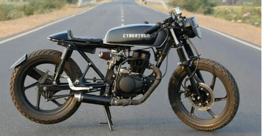 Modified Honda Shine cafe racer motorcycle proves humble can be very cool
