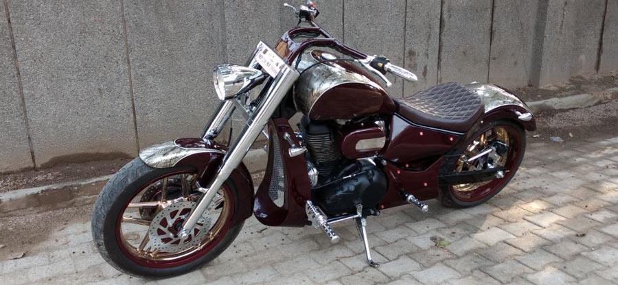 This super cool modified Royal Enfield is called 'Angara'
