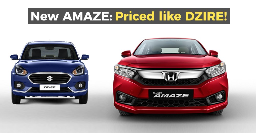 Honda Amaze launched in India: Priced almost same as Maruti Dzire