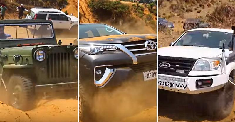 Old Willys Jeep vs Toyota Fortuner, Mahindra Thar, Isuzu V-Cross & Ford Endeavour…Who's the boss? [Video]