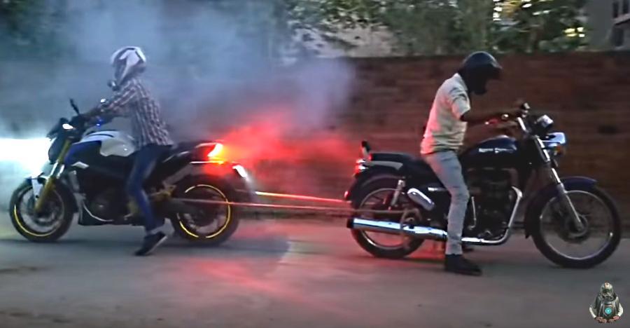 Royal Enfield Thunderbird 350 vs Bajaj Dominar in a Tug of War: Who wins [Video]