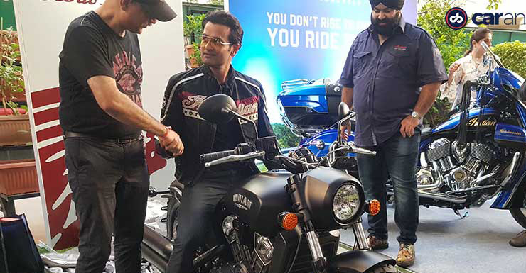 Bollywood actor Rohit Roy's latest ride is a massive Indian Scout Bobber cruiser motorcycle