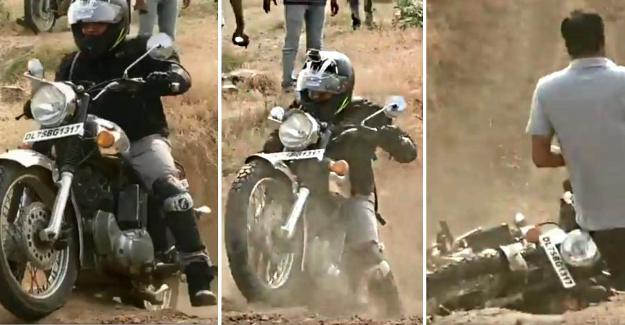 What happens when Royal Enfields go hard-core off roading [Video]