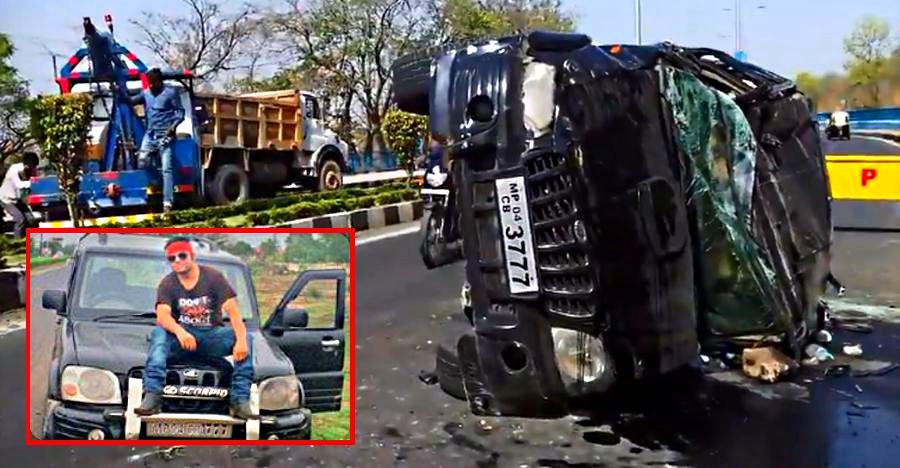 Mahindra Scorpio-Jeep crash during street racing ends with Scorpio driver dead