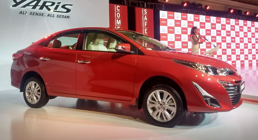 Toyota Yaris sedan launched in India – Prices, Specs & Images