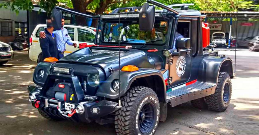 The Mahindra Thar '6 wheeler' from Grizzly Motor Works is a BRUTE on wheels