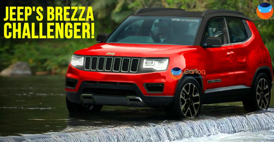 Jeep Compass' little brother to challenge Brezza: What it could look like