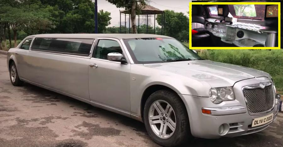 You can hire this LUXURIOUS Chrysler limousine for Rs. 10,000 per day; Check it out on Video