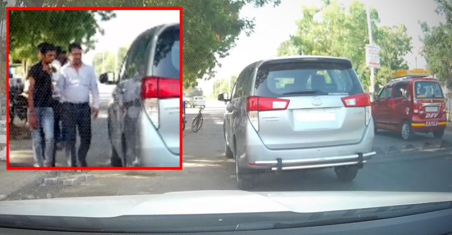 Cop & car owner catch Innova Crysta thief; Captured on live video