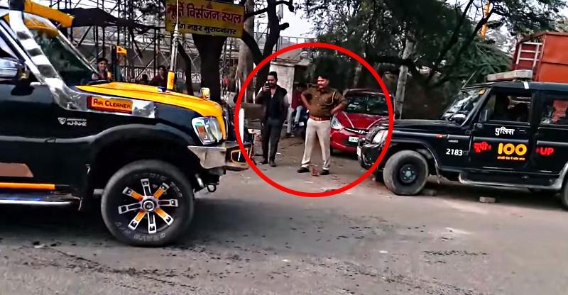 'Dancing' Mahindra Scorpio in front of SPEECHLESS cop [Video]