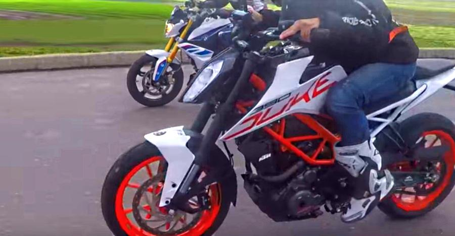 KTM 390 Duke vs upcoming BMW G 310R in a DRAG race: Who wins? [Video]