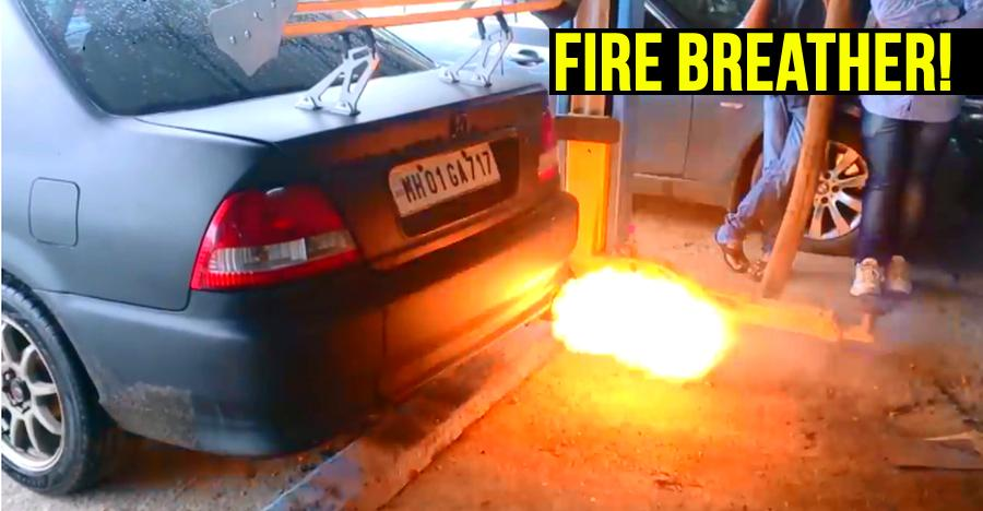 Fire-breathing Honda City – We explain how a flame thrower works [Video]