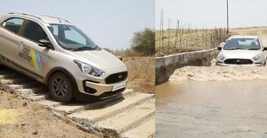 Watch a Ford Freestyle climb down stairs, go through deep, water-filled ditches [Video]