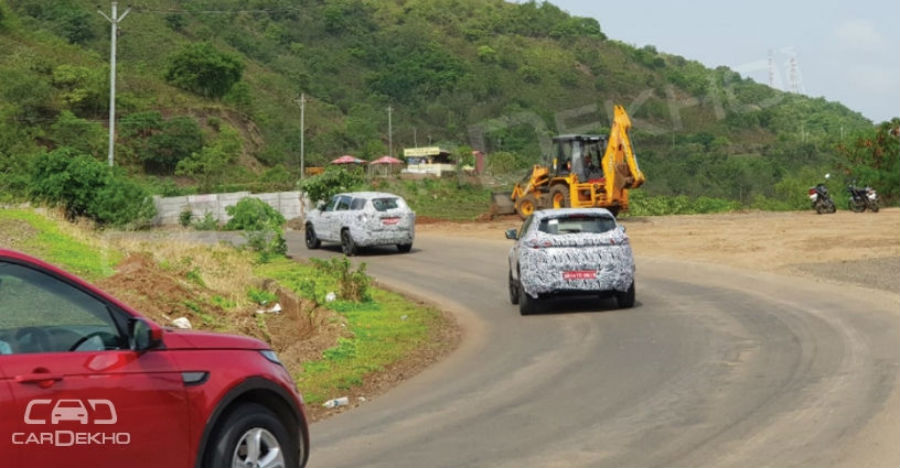 Upcoming Tata H5X SUV spotted testing with the Land Rover Discovery Sport