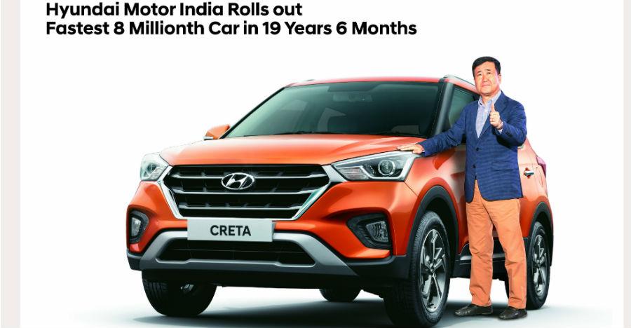 New Creta is Hyundai's 8 millionth car in India