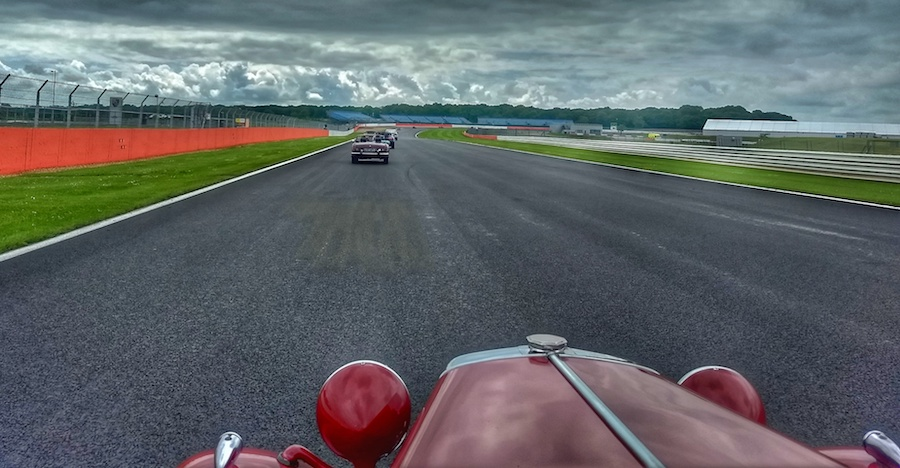 A lap of the Silverstone track in a 1953 MG TD [Video]