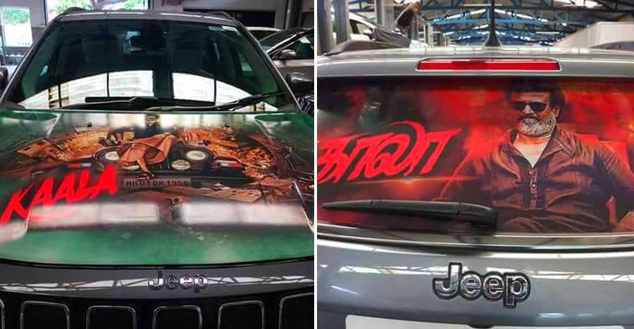 Rajnikanth's Kaala-inspired Jeep Compass SUV takes fan following to an all-new level