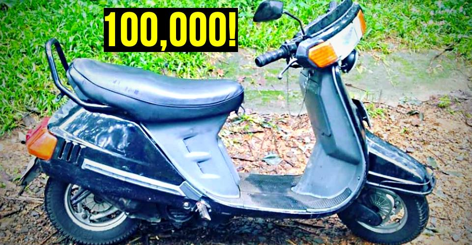 The Kinetic Honda with 1lakh kms on the odo! See pics