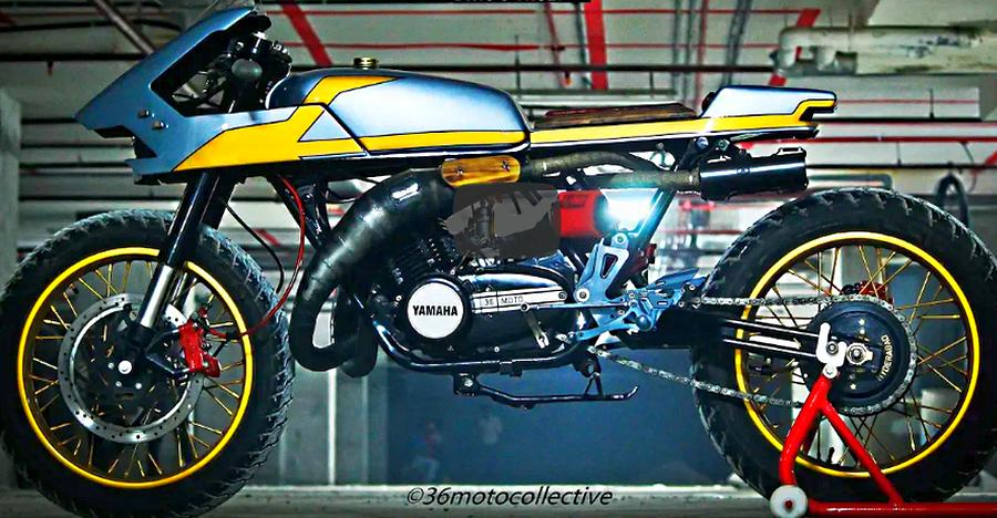 Custom-built Yamaha RD350 cafe racer is one of the most GORGEOUS