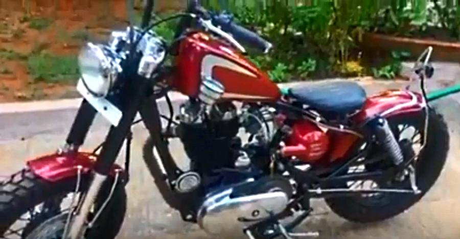 MODIFIED Royal Enfield Bobber looks really cool