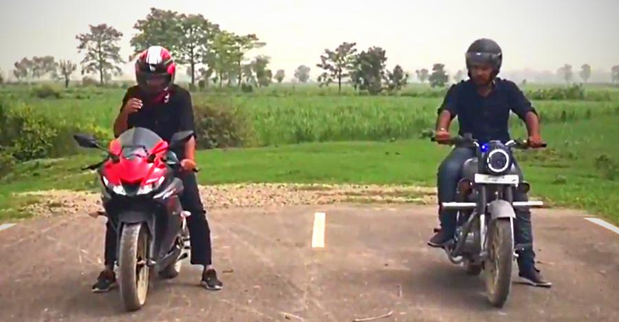 How SLOW can a Royal Enfield Bullet 350 be? Watch it in this drag with the Yamaha R15 [Video]