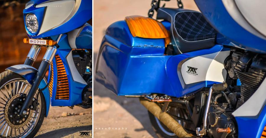 This Rolls Royce-inspired modified Royal Enfield Thunderbird is called Dariasarang -The Supremo
