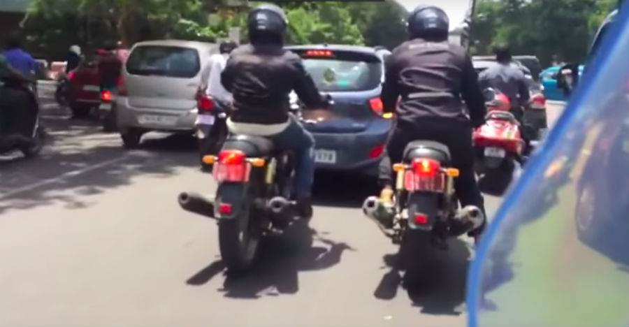 Royal Enfield Interceptor and Continental GT 650 spied before launch in India [Video]