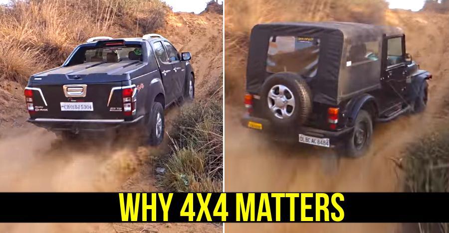 Isuzu V-Cross & Mahindra Thar show the POWER of 4-wheel drive: Live example on video