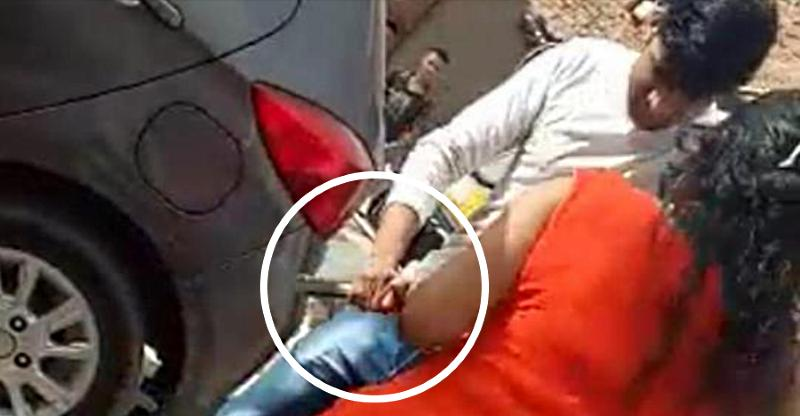 Woman on scooter shoots at auto rickshaw driver for not giving way [Video]