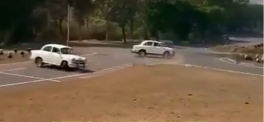 Watch VVIP drivers perform security drills in Hindustan Ambassadors [Video]